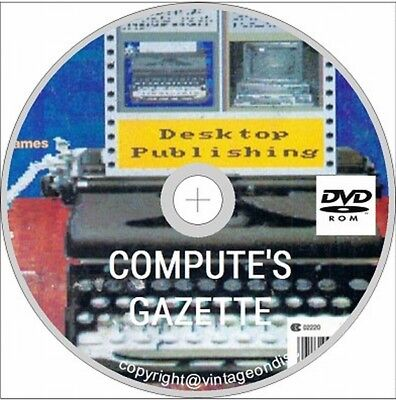 COMPUTE!'s Gazette 86 Issues in PDF format on DVD ROM