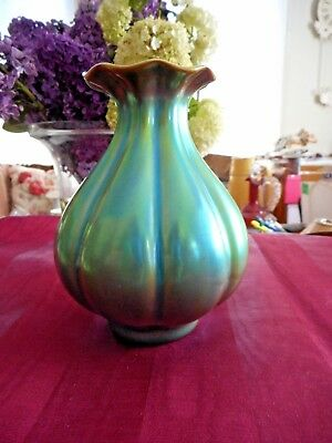 Small antique Zsolnay eosin vase