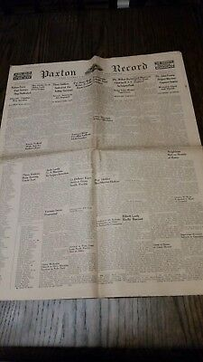 Vintage Paxton Record Ford County Thursday July 27, 1944  Illinois Newspaper