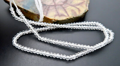 """RARE ULTRA STUNNING AAAA FACETED WHITE NAMIBIA TOPAZ BEADS 13"""" 2.7-2.9mm"""