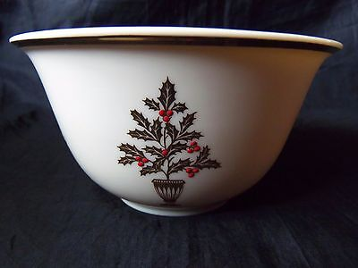 "Lenox China ETERNAL Christmas 5-3/8"" All Purpose Cereal Bowl is 3"" Deep LOOK!"