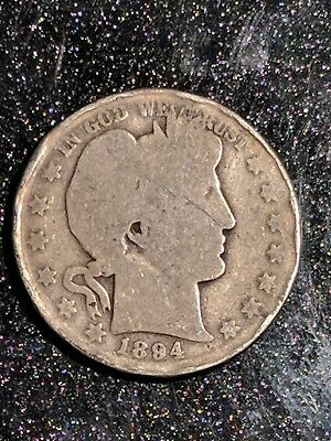 1894-O New Orleans Mint Silver Barber Half Dollar