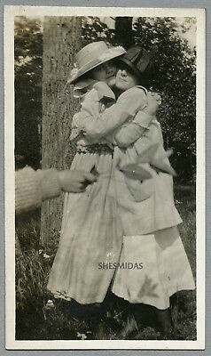#769 Cheek to Cheek Women, Hand in the Foreground,Vintage Lesbian Int Photo