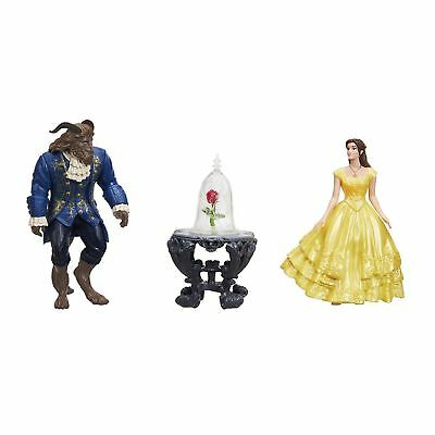 Disney Beauty and the Beast Enchanted Rose Scene Belle and The Beast Figures