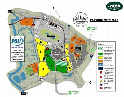 Jets vs Packers Parking Pass - Yellow Lot 12/23