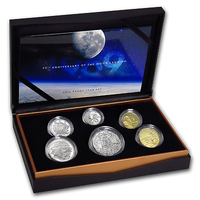 2019 6-Coin Royal Australian Mint Moon Landing Proof Set - SKU#178975