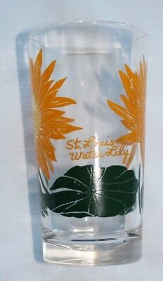 Vintage Boscul - Old Judge peanut butter glass tumbler St. Louis Water Lily HTF
