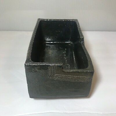 Antique Japanese Ikebana Pedestal Planter Cast Iron