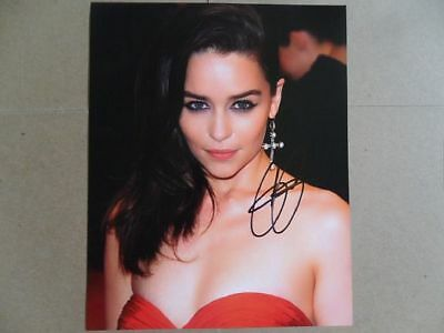 "Emilia Clarke Signed ~~Autographed Photo ""Game Thrones"""