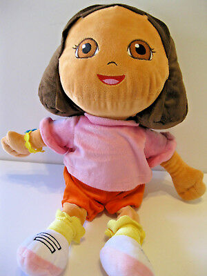 "Dora the Explorer Doll Plush Soft  19"" Nickoloden 2013 Excel Condition Fast Ship"