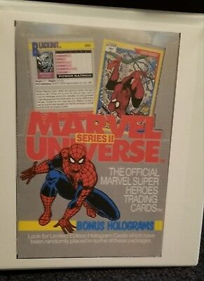 1991 MARVEL UNIVERSE SERIES 2, Complete 162 Trading Card Set, NO Holograms