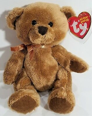 "TY Beanie Babies ""FUDDLE"" the Brown Teddy Bear - MWMTs! GREAT GIFT! A MUST HAVE!"