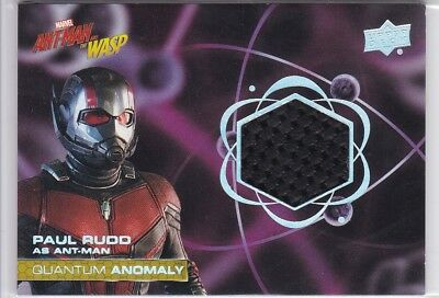 Paul Rudd 2018 Upper Deck Ant-Man and Wasp Quantum Anomaly Relic Costume #QM8