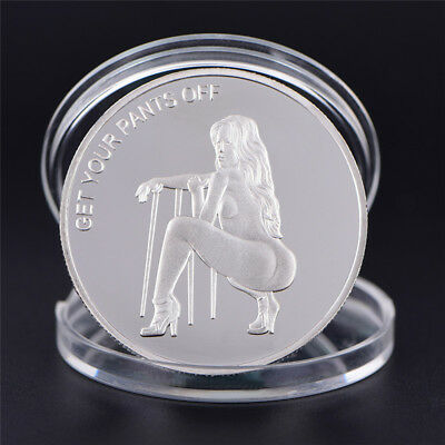 Silver Commemorative Coin Sexy Woman Luck Collection Arts Gifts Bitcoin SouvenMD
