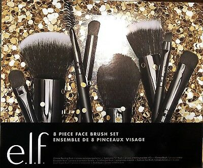 e.l.f. Cosmetics 8 Piece Face Brush Set. Holiday Edition. New. Free Shipping.