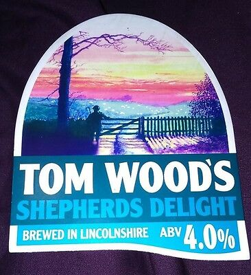 TOM WOOD'S brewery SHEPHERDS DELIGHT cask beer pump clip badge front pumpclip
