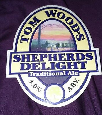 TOM WOOD'S brewery SHEPHERDS DELIGHT beer pump clip badge front pumpclip Lincs