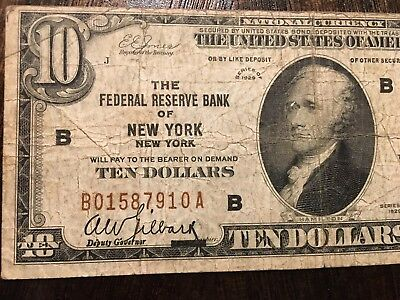 Federal Reserve Note $10 NY Series 1929 /Fine