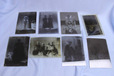 Lot Vintage 5x7 Glass Plate Negatives Studio Photography