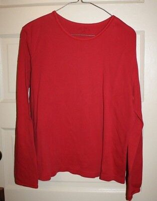 Women's White Stag Red T shirt Large Long sleeve (COG)
