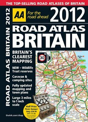 Road Atlas Britain 2012 by AA Publishing Spiral bound Book The Cheap Fast Free