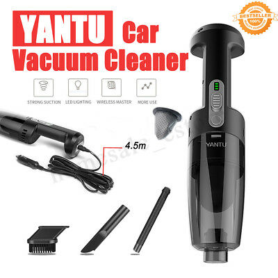 12V Portable Car Vacuum Mini Cleaner Dust Rechargeable Handheld Wet/Dry HOME