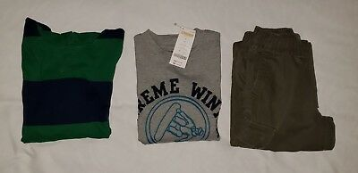 Boys NWT & Pre-Owned Chaps Lands' End Gymboree Shirt & Pants Lot Size S 7 8