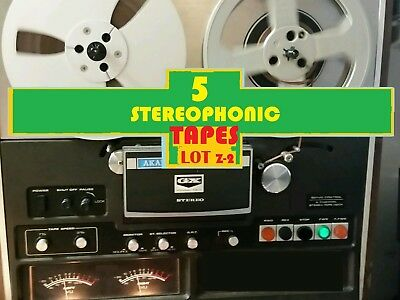 STEREOPHONIC Music on 5 Reel to Reel tapes LOT(Z-2)