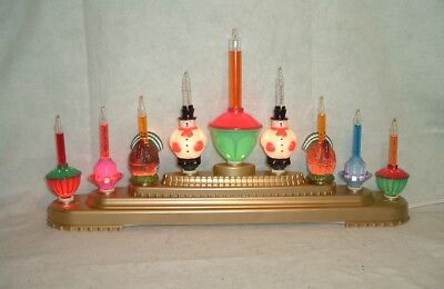 9- Bubble Lights C7 Candelabra Xmas Tree Lighted Bubbling Candolier