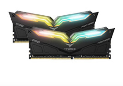 NEW Team T-Force Night Hawk RGB 3000MHz 16GB (2x8GB) DDR4 Black