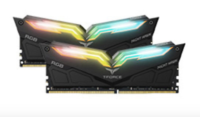 NEW Team T-Force Night Hawk RGB 3200MHz 16GB (2x8GB) DDR4 Black