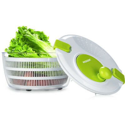 4.5 Quart Plastic Salad Spinner Mixer Vegetable Dryer with Stainless Steel Bowl