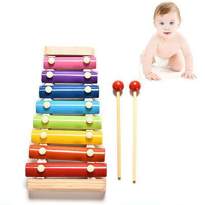 Lovely 8 Tone Xylophone Musical Toys Wisdom Development Wooden Toy for Baby'Kids
