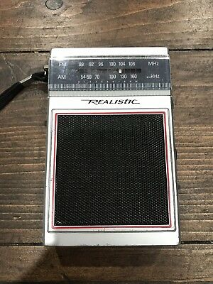 Vintage Realistic Model Number 12-719 Am Fm Transistor Radio