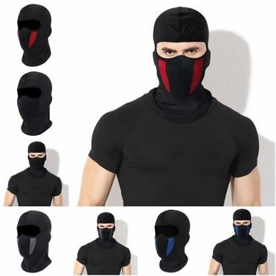 Unisex Outdoor Windproof Ski Motorcycle Cycling Balaclava Full Face Mask Hat New