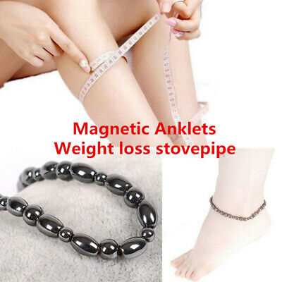 Magnetic Genuine Hematite Anklet Therapeutic Authentic Ankle Bracelet Theraputic