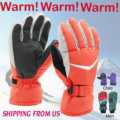 -30℃ Waterproof Winter Ski Snow Snowboarding Warm 3M Thinsulate Gloves Men Women
