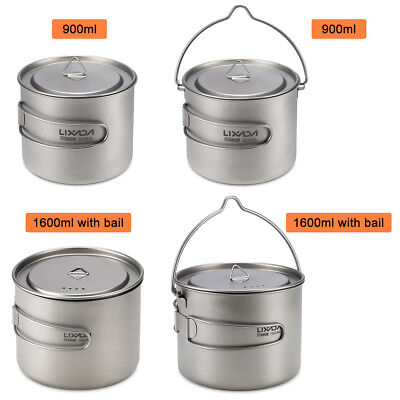 Lixada 900/1600ml Hanging Pot Cup for Outdoor Camping Hiking Backpacking R3C1