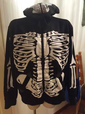 Skeleton Mens Hoodie Halloween Size Large L Awesome Costume