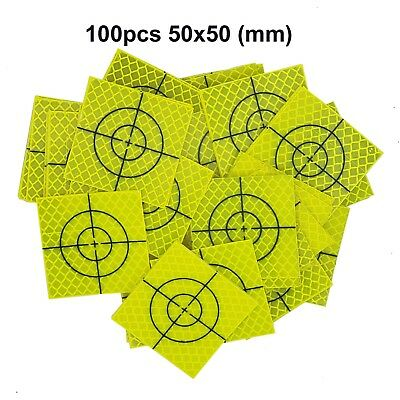 100pcs Fluorescent yellow-green Retro Reflective Target 50mm FOR total station
