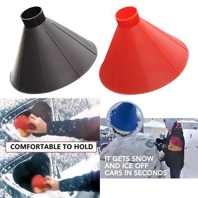 Car Windshield Ice Scraper Tool Outdoor Cone-Shaped Funnel Remover Snow