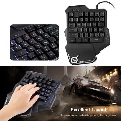 One-Handed Keyboard For PUGB LOL Mobile PC Gaming Left Hand Small Keyboard B3N0