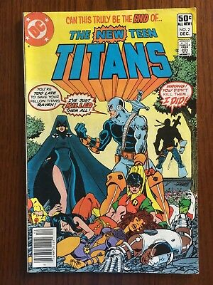 The New Teen Titans No. 2 Dec 1980 F/VF (7.0), 1st appearance of Deathstroke