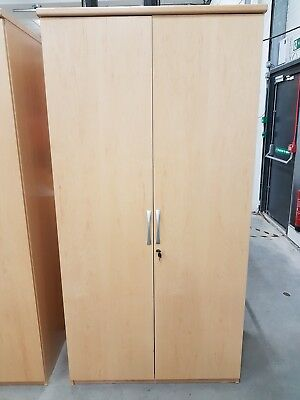 Maple Veneer Cupboards in good condition
