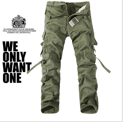 NEW Men's Army Cargo Overall Combat Tactical Military Trousers Outdoor Pants