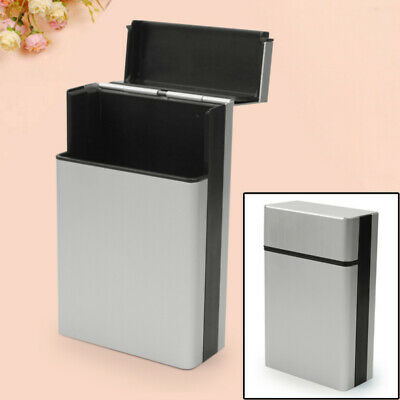 Aluminum Cigar Cigarette Tobacco Holder Pocket Box Case Container Silv HVB
