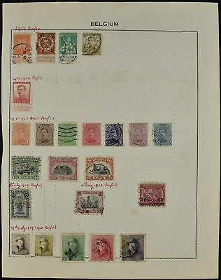 Belgium Album Page Of Stamps #V7512