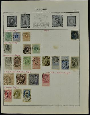 Belgium Album Page Of Stamps #V7511