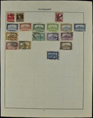 Hungary Album Page Of Stamps #V7392