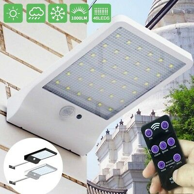 48 LED Solar Powered with Remote Control Motion Sensor Garden Security Lamp